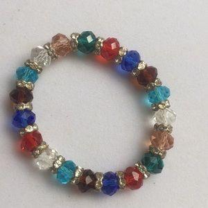 Multiple colored bracelet